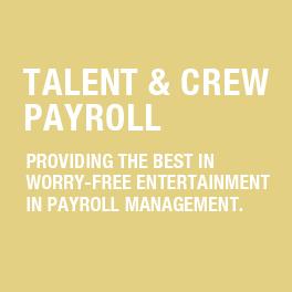 Talent & Crew Payroll